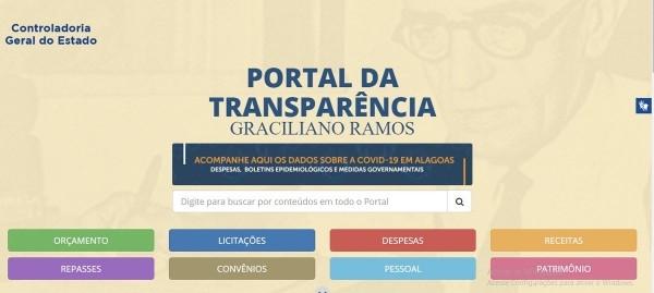 Governo de Alagoas disponibiliza informações sobre despesas relacionadas ao coronavírus