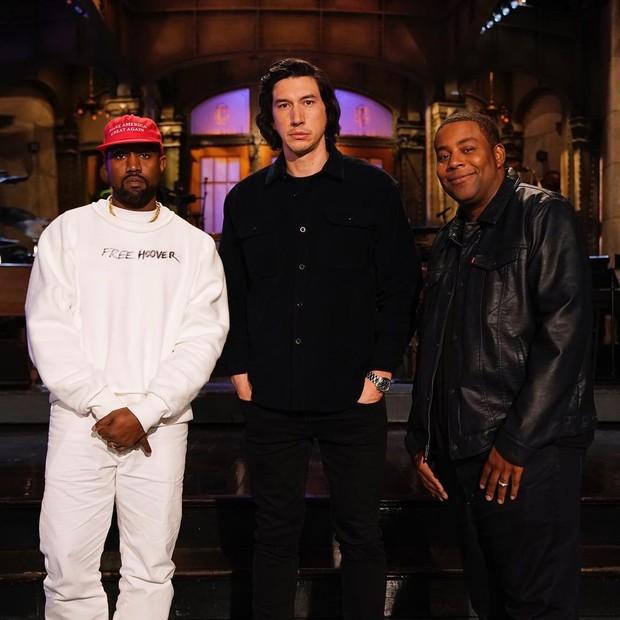 Kanye West aparecerá no próximo Saturday Night Live, com apresentação de Adam Driver (Foto: reprodução/instagram)
