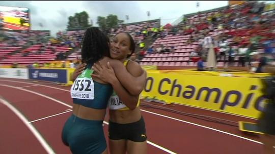 Brasileira fica em 6º e jamaicana vence a final dos 100m do Mundial sub-20 de atletismo