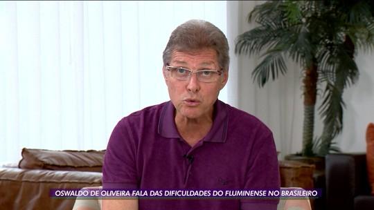 """Oswaldo de Oliveira quer dar fim a improvisos no Fluminense e busca """"posição ideal"""" para Ganso"""