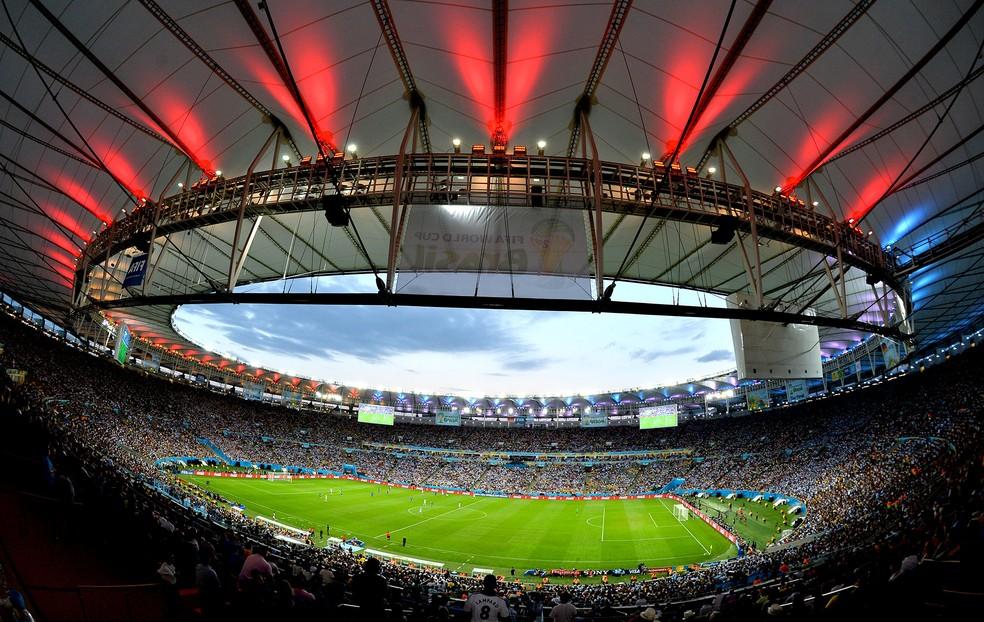 Maracanã, na final da Copa de 2014 entre Alemanha e Argentina: Copa América de 2019 deve ficar concentrada no Sudeste (Foto: AFP)