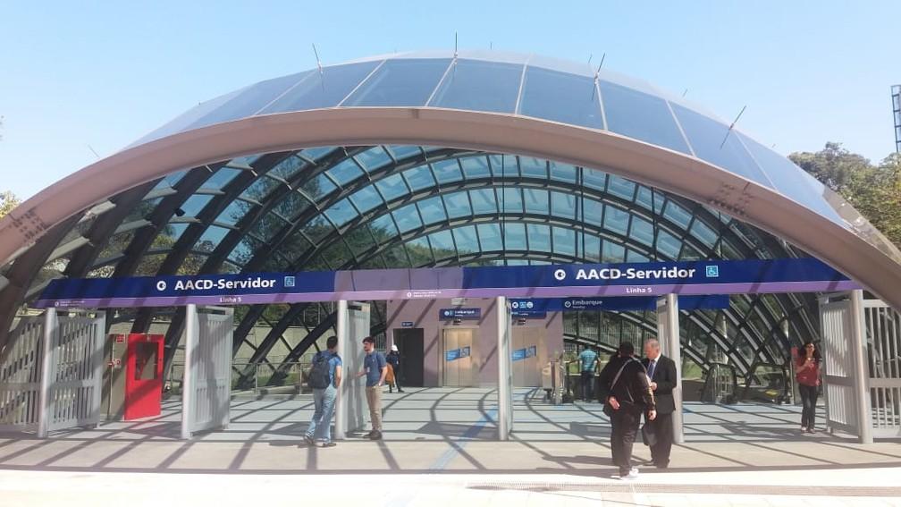 Estação AACD (Foto: Tatiana Santiago/G1 )