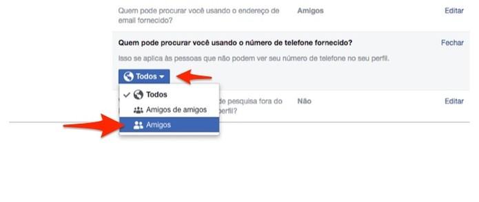 Altere a privacidade de um celular agregado em uma conta do Facebook (Foto: Reprodução/Marvin Costa)