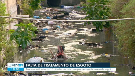 Manaus enfrenta falta de tratamento de esgoto