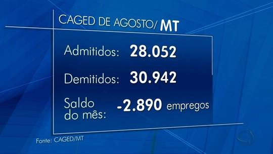 MT teve mais demissões que contratações em agosto, diz Caged
