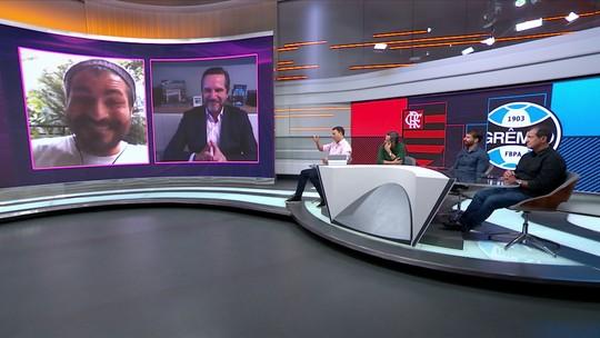 """Em papo com Thiago Lacerda, Milton Jung promete dançar """"haka"""" se o Grêmio passar pelo Flamengo"""