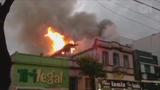 Incêndio atinge hotel no Centro de Santo Ângelo