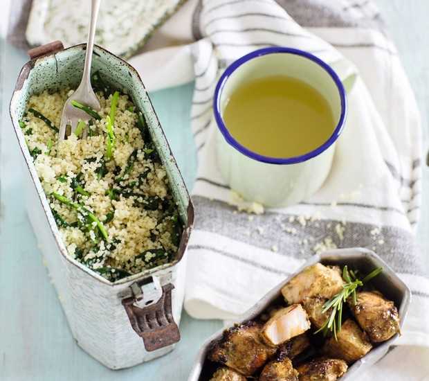 Salada de cuscuz marroquino e frango (Foto: Elisa Correa / Editora Globo)
