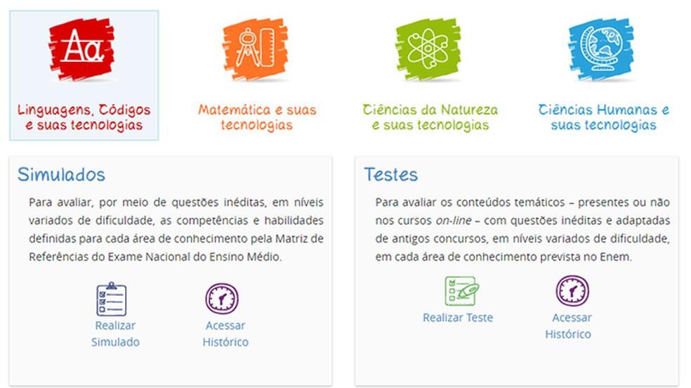 Ensino Médio Digital FGV estrutura o material de acordo com a definição oficial do Ministério da Educação — Foto: Reprodução/Paulo Alves
