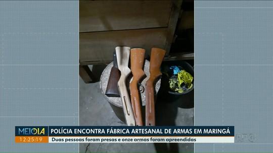 Fábrica artesanal de armas é encontrado pela polícia no norte do Paraná