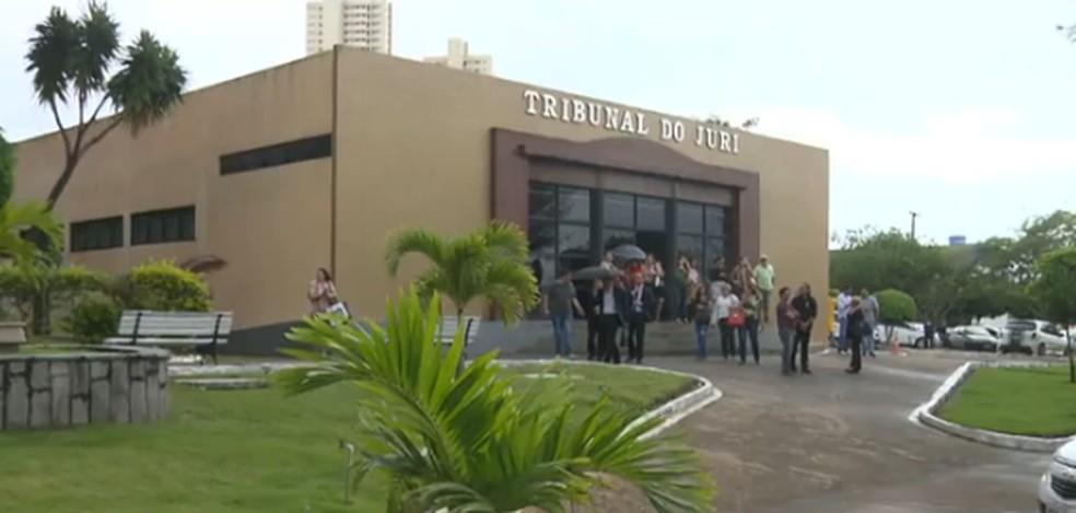 Policial militar Damião Soares Gomes foi condenado a 18 anos de prisão por matar a ex-companheira, em Itaporanga — Foto: Reprodução/TV Paraíba