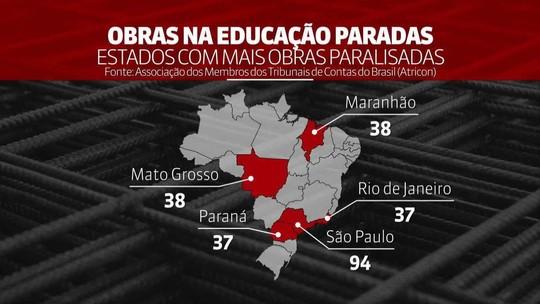 Levantamento aponta 543 obras paradas na educação pelo país