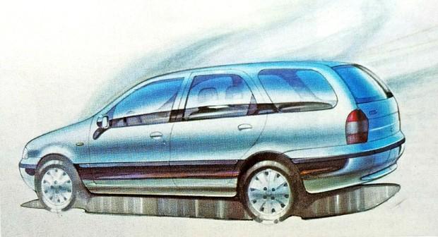 Outro sketch da época mostra como o design da perua melhorou ante as primeiras propostas (Foto: MIAU Museu da Imprensa Automotiva)
