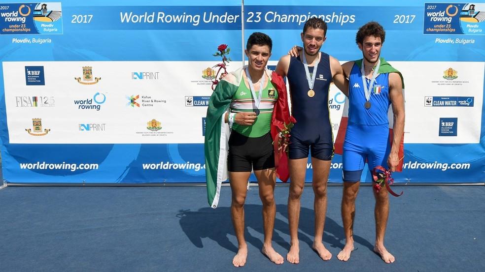 Uncas Tales remo botafogo campeão mundial sub-23 (Foto: World Rowing)