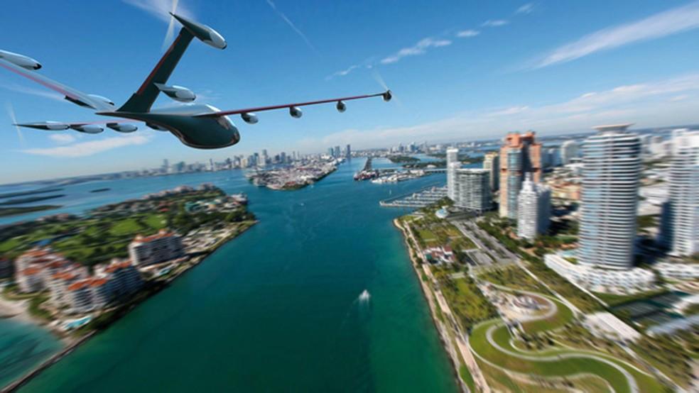 S2 poderia atingir velocidades de até 320 km/h — Foto: Joby Aviation via AP