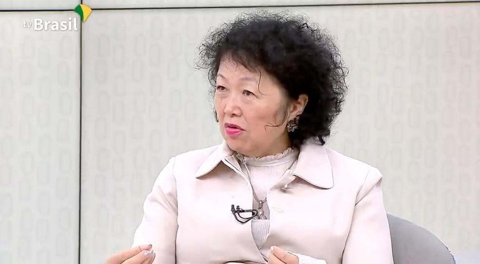 A médica Nise Yamaguchi durante entrevista à TV Brasil, do governo federal, em julho de 2020. — Foto: Reprodução