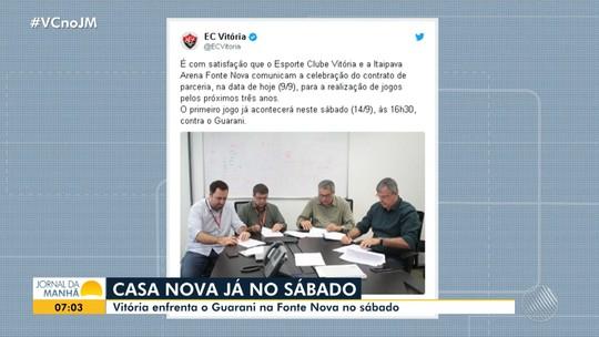 Vitória assina contrato e deve jogar na Arena Fonte Nova pelos próximos três anos