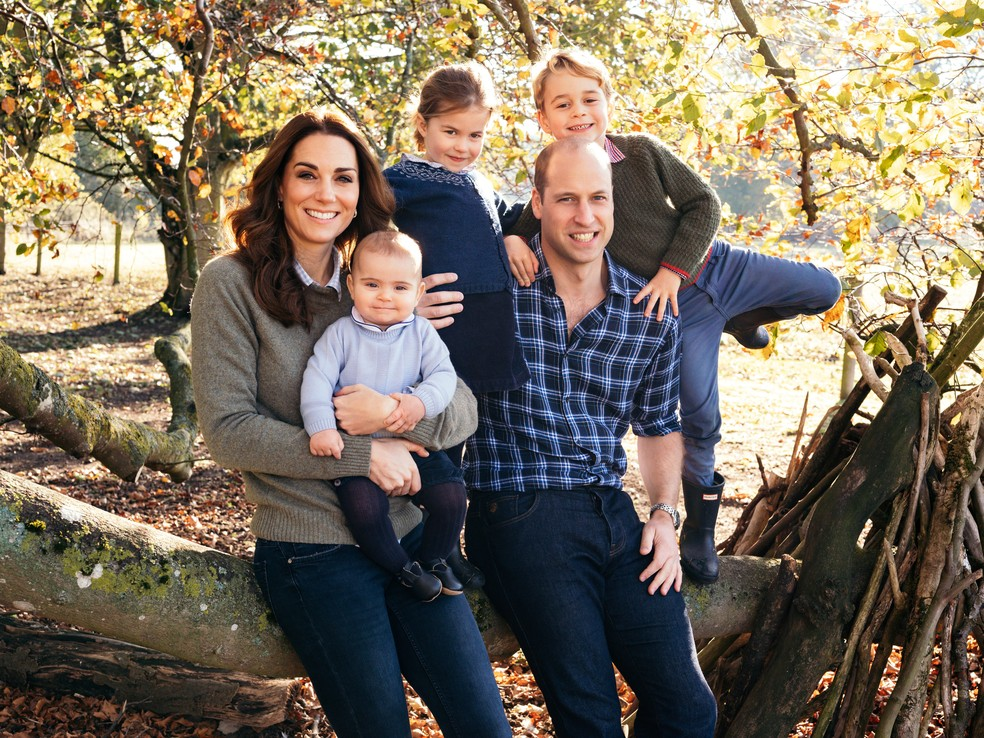Príncipe William, Kate Middleton e os filhos: Louis, Charlotte e George — Foto: Matt Porteous/Handout via REUTERS