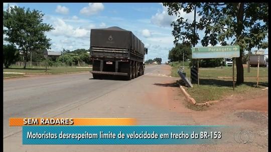 Radares são retirados ao longo de 400 km da BR-153 entre Anápolis e Porangatu, em Goiás