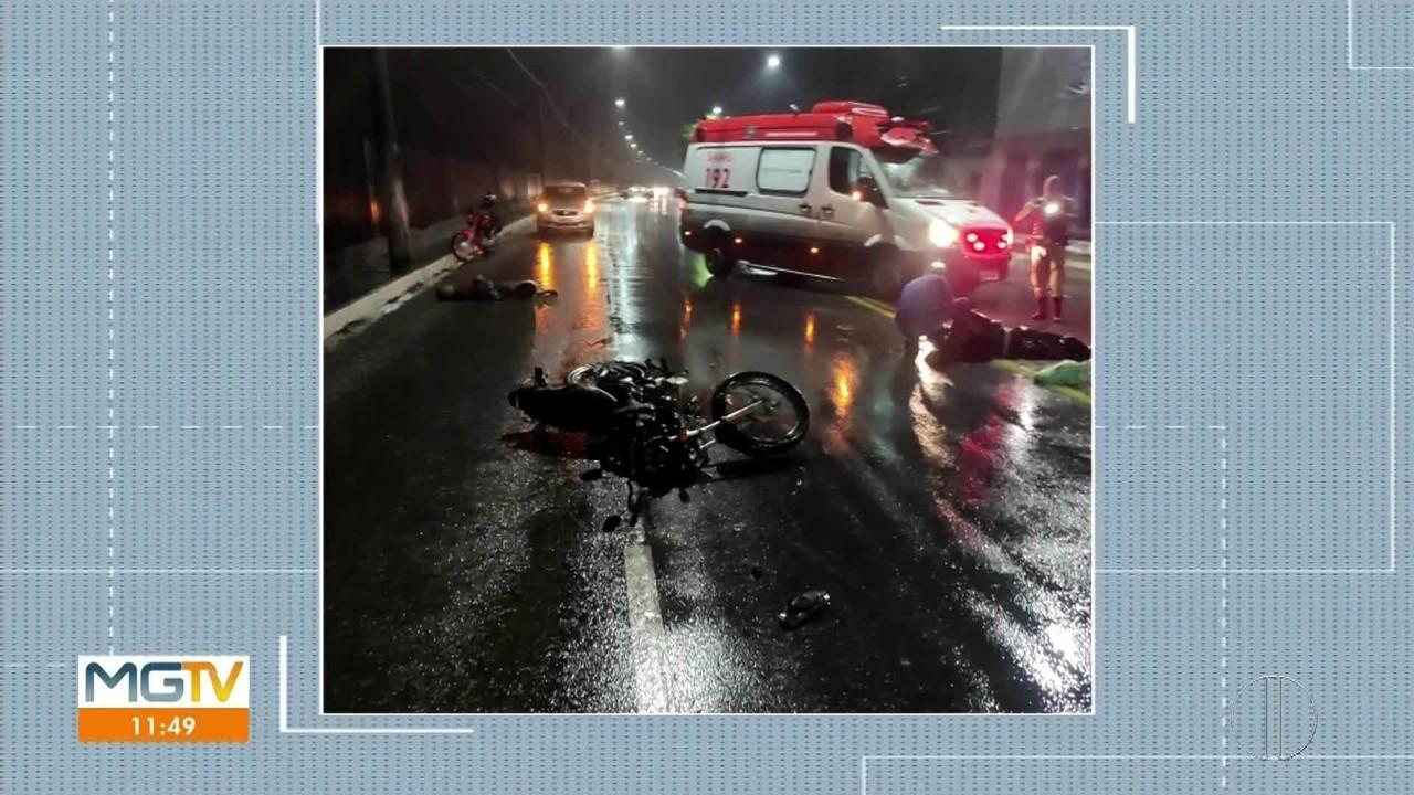 Homem morre e outro fica ferido em acidente entre carro e moto em Governador Valadares
