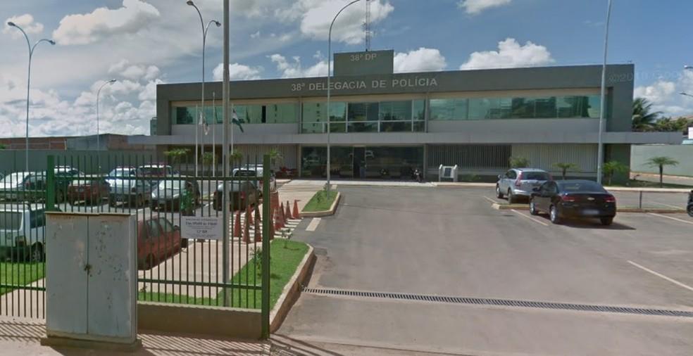 Fachada da 38ª DP, em Vicente Pires, no Distrito Federal — Foto: Google Maps/Reprodução