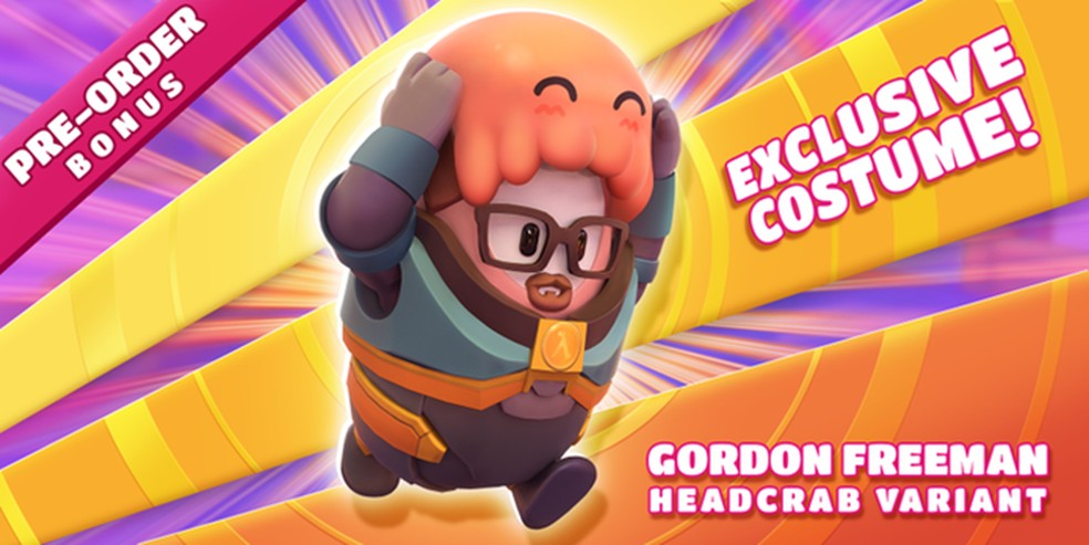 Fall Guys tem skin inspirada em personagem da série Half-Life — Foto: Divulgação/Fall Guys
