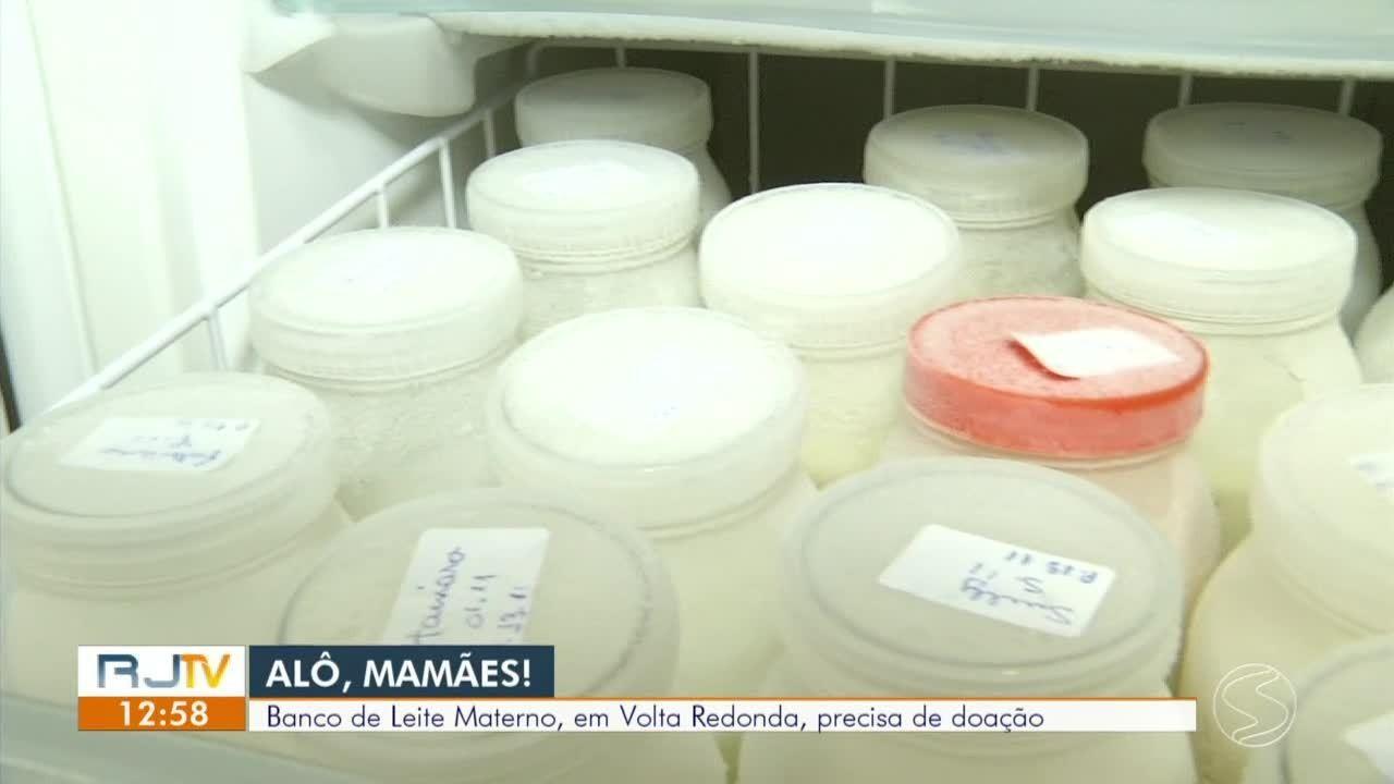 Banco de leite materno de Volta Redonda precisa de doações