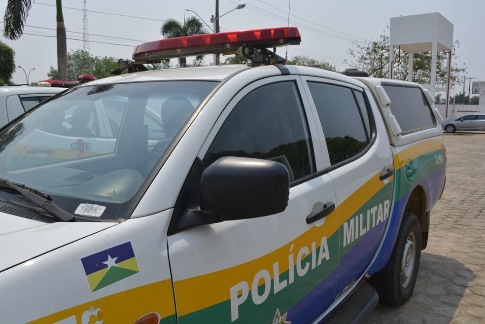 -  Polícia Militar; PM; carro de polícia; polícia Ariquemes  Foto: Jeferson Carlos/G1