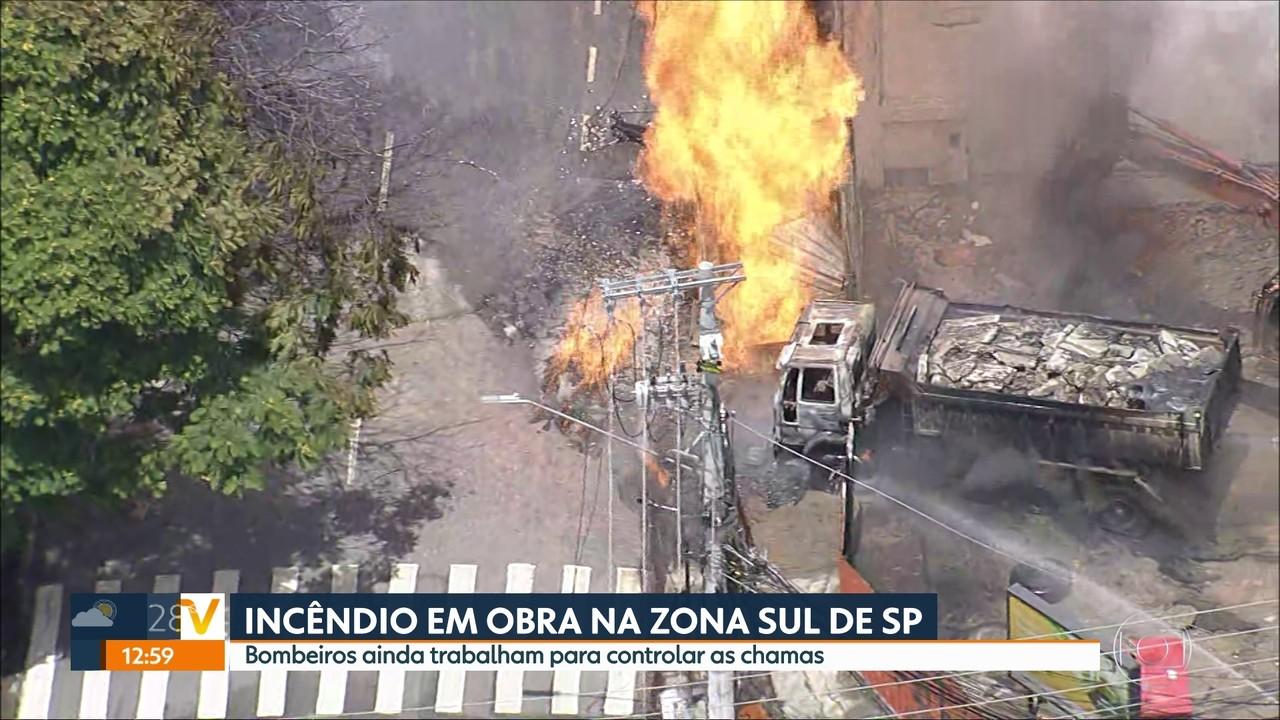 Incêndio atinge posto desativado na zona sul de SP