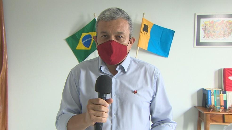 Ramon Cujuí, candidato a prefeito em Porto Velho — Foto: Reprodução/Rede Amazônica