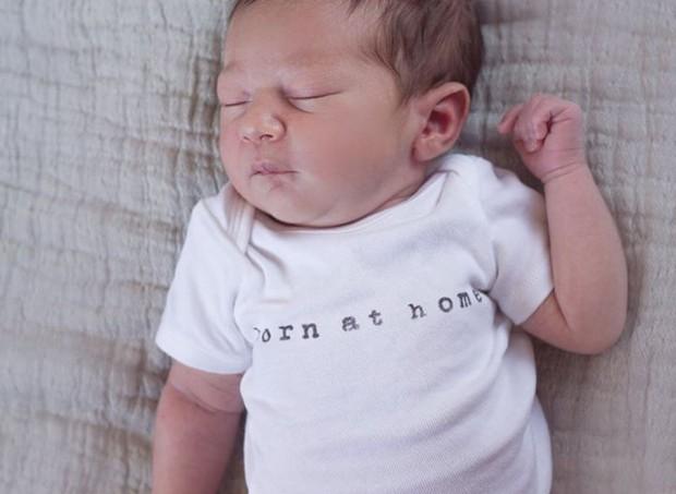 Elyjah, único filho de Christy que nasceu por parto normal (Foto: Arquivo Pessoal)