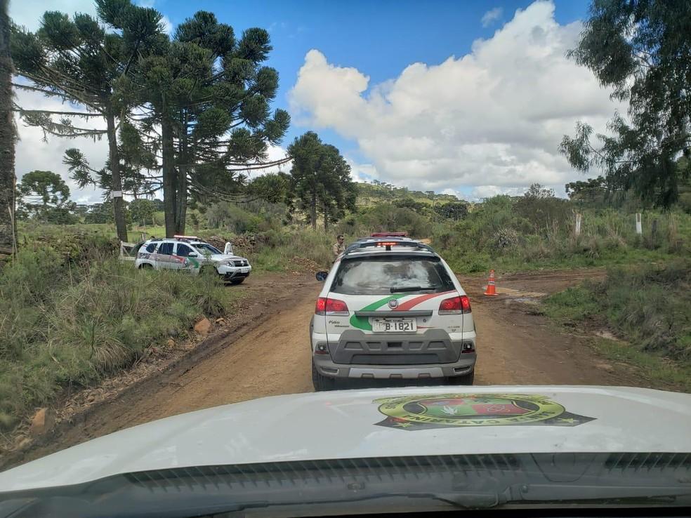 Homicídio ocorreu na área rural de São Joaquim, na Serra de SC — Foto: IGP/Divulgação