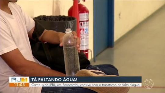 Campus do IFRJ, em Paracambi, convive com transtorno da falta d'água