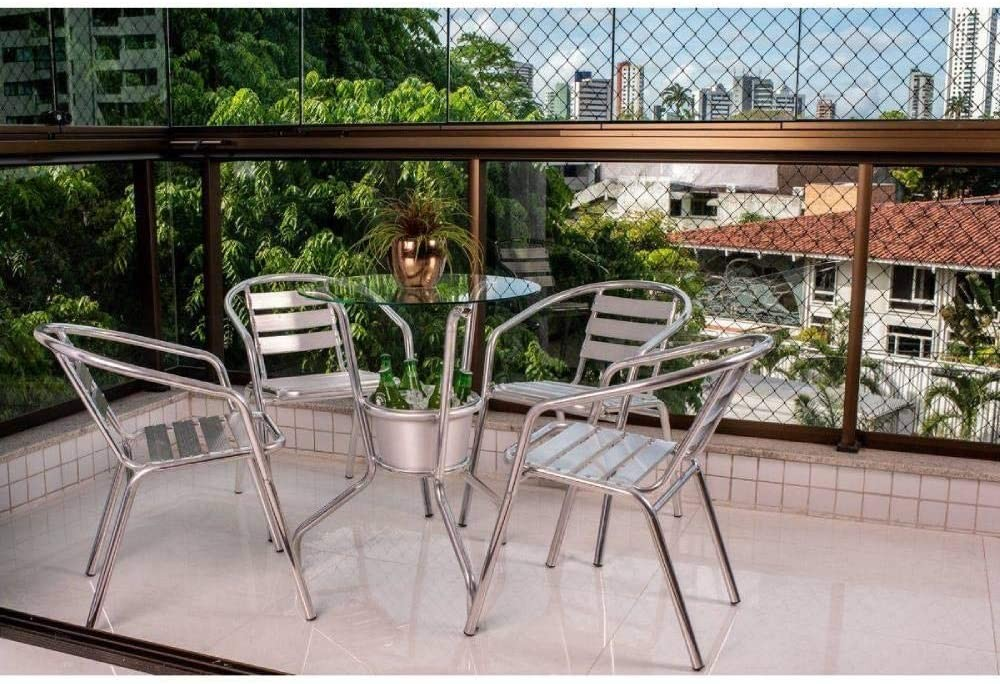 Conjunto de mesa com 4 cadeiras (Foto: Reprodução/Amazon)