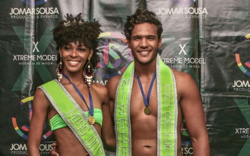 Natally Sousa e Jeferson Lima foram eleitos Miss e Mister Guetto  â?? Foto: Divulgação