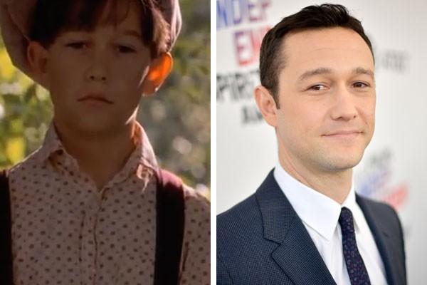 O ator Joseph Gordon-Levitt na infância e hoje (Foto: Reprodução/Getty Images)