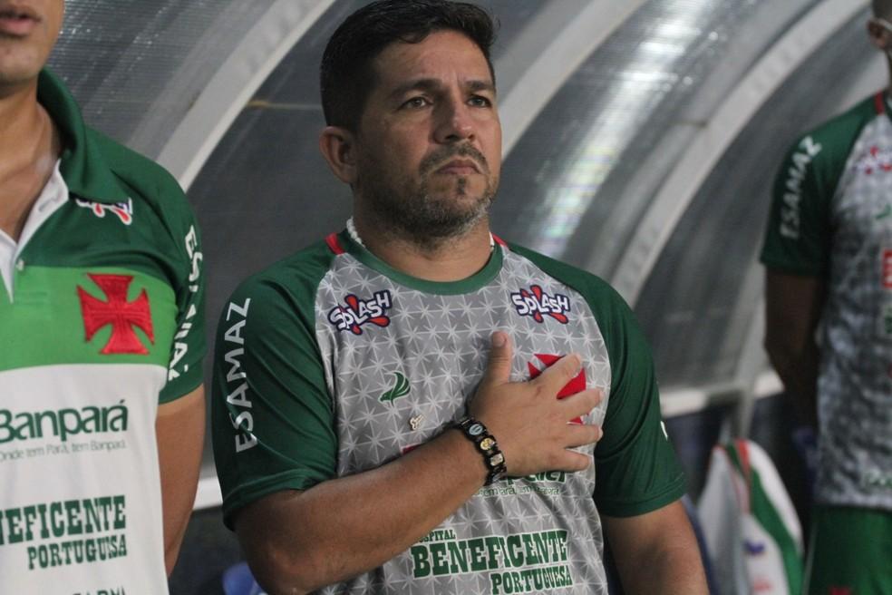 Robson Melo, treinador da Tuna — Foto: Júnior Borges/Ascom Tuna