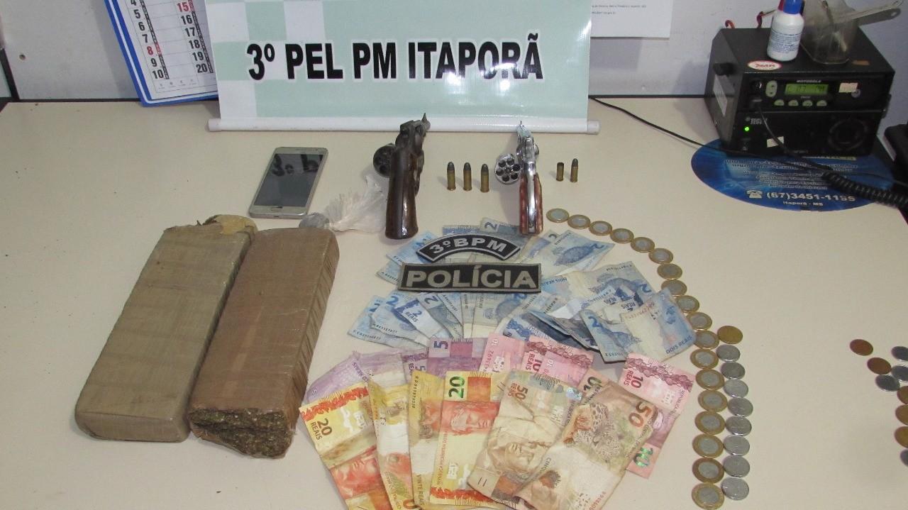 Dois assaltantes são mortos e um é preso após confronto com a PM em município de MS