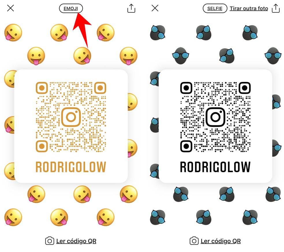 QR Codes tem diferentes planos de fundo — Foto: Reprodução/Rodrigo Fernandes