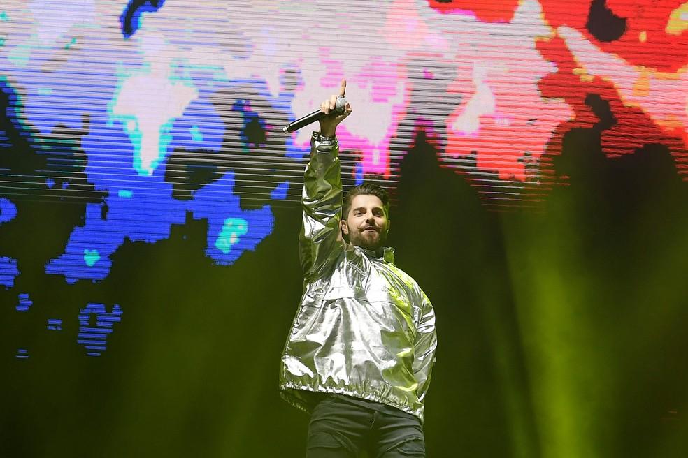 Alok abre o palco Mundo no primeiro dia de Rock in Rio, sexta (27) — Foto: Alexandre Durão/G1