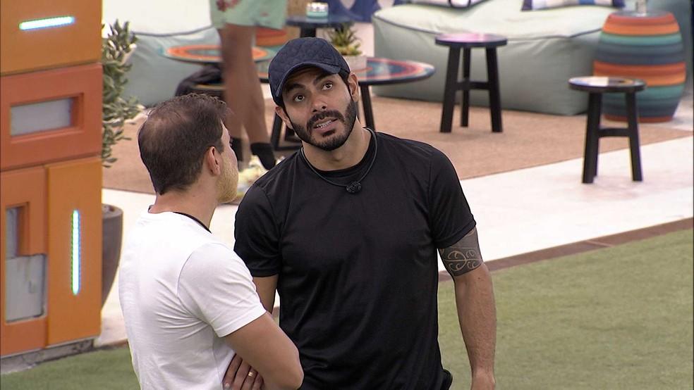 Rodolffo revela opção de voto no BBB21: 'O meu é Gil' — Foto: Globo