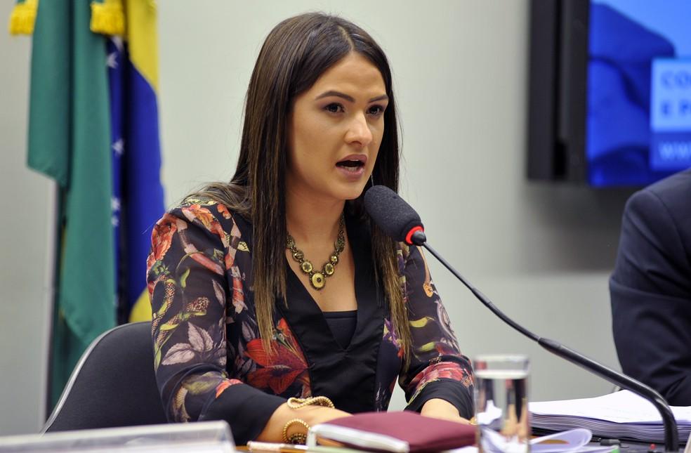 A deputada Bruna Furlan (PSDB-SP), durante audiência na Câmara (Foto: Cleia Viana/Câmara dos Deputados)