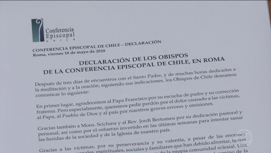 Bispos chilenos que teriam acobertado abuso colocam cargo à disposição do Papa