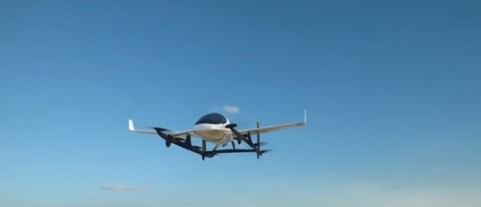 Imagem mostrada em vídeo da Embraer sobre parceria com Uber (Foto: Reprodução)