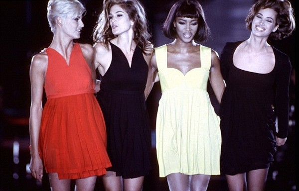 Linda Evangelista, Cindy Crawford, Naomi Campbell e Christie Turlington (Foto: Getty Images)