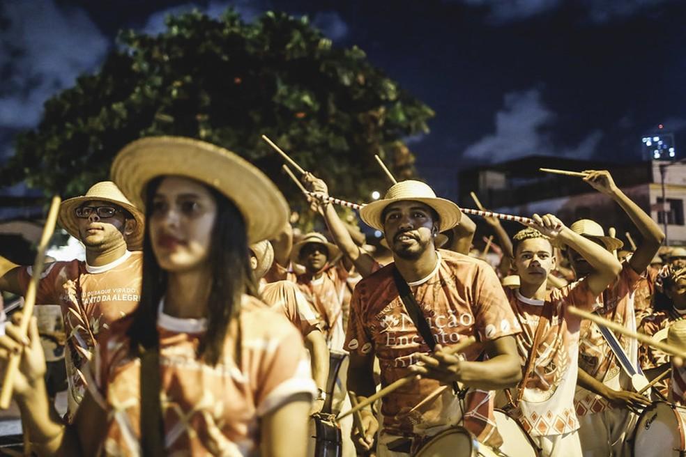 Maracatu Nação Encanto da Alegria — Foto: Andrea Rego Barros/ PCR Imagem