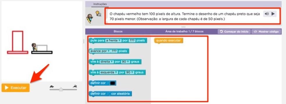 Aula interativa de um curso no site Brasil Mais Digital — Foto: Reprodução/Marvin Costa