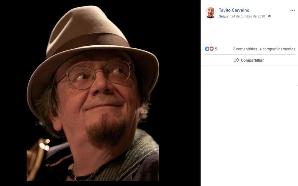 Compositor Tavito Carvalho — Foto: Reprodução/Redes Sociais