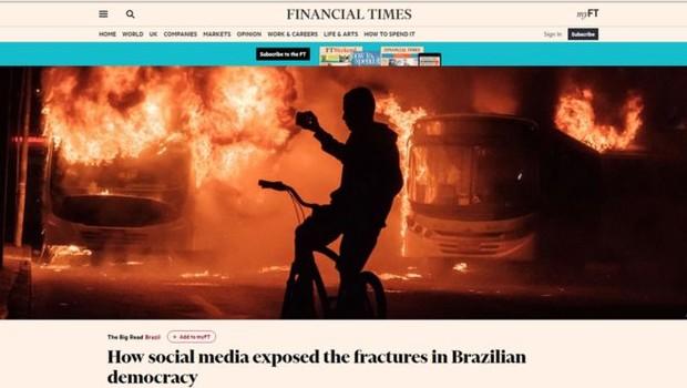 Para o jornal, a recessão econômica e os escândalos de corrupção deixaram o país 'mais vulnerável a um choque político radical do que talvez qualquer outra democracia no mundo' (Foto: Reprodução/via BBC News Brasil)