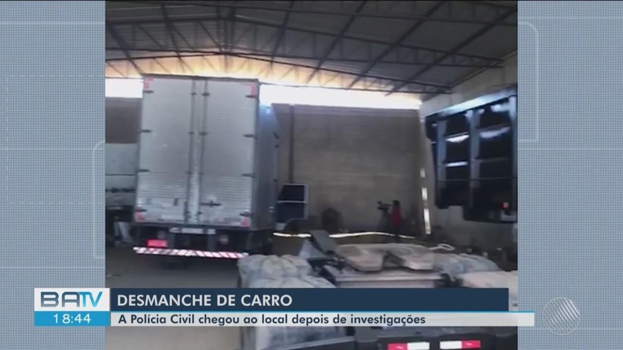 Polícia descobre galpão para desmanche de veículos roubados em Vitória da Conquista